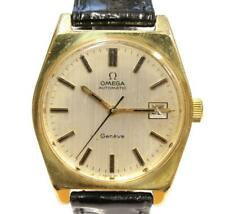 Omega Geneve Date Automatic Gold Plated Watch 1972 Ref 166 Cal 1481