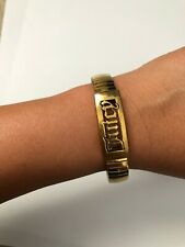juicy couture bracelet gold name brass designer chic stacking pre-owned