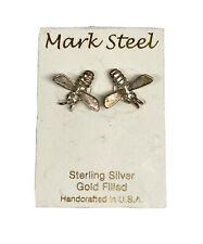 Insect Bee Bug Earrings Mark Steel Sterling Silver