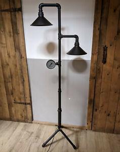Lampe Stehlampe aus Wasserrohr Industrie Stil Industrial Steampunk Metall