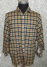 180g SIGNUM Hombre Camisa Informal Talla L MANGA LARGA AMARILLO marino