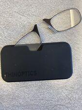 NEW ThinOptics Black IN Pod Case + 2.0 Reading Glasses