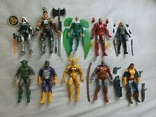 Marvel Legends Lot of 10 Ares Taskmaster Vulture Iron Man Forge Black Widow