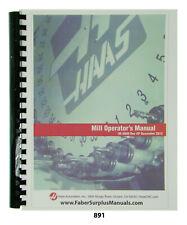 Haas CNC Milling Machine Operators Manual  *891