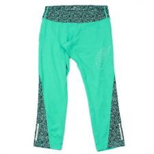 Nike Run Leggings Women's Size Small Green Mint Safety Reflective Yoga Athletic