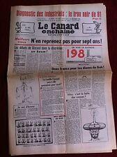 Le Canard Enchainé 31/12/1980; Diagnostic des industriels; le trou noir de 81