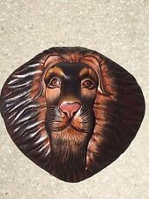 Lion Head 3-D Safari Mask African Style Wall Hanging Art