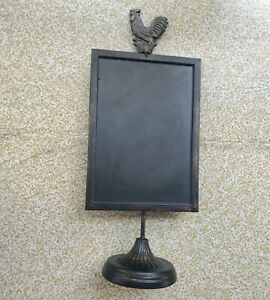 """Metal Rooster Chalkboard Farmhouse Traditional Kitchen RTC 18"""""""