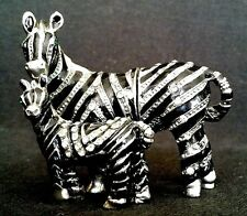 Mom Baby Zebra Collectible Enameled Bejeweled Metal Hinged Trinket Pill Box