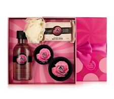 The Body Shop British Rose Gift Set Body Butter Scrub Shower Gel Soap Bath Lily