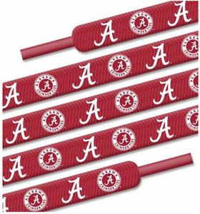 "Alabama Crimson Tide Shoe Laces Strings NCAA Team Colors 54"" One Pair Lace Ups"