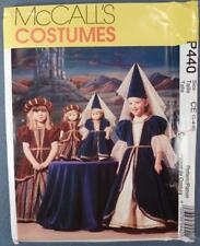 NOS McCall's Costume Pattern P440 Size CE 3,4,5 Renaissance Girl New Old Stock