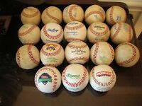 LOT 18 NEW/USED RAWLINGS WILSON DIAMOND COOPERSTOWN OFFICIAL LEATHER BASEBALLS