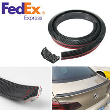 4.9ft/1.5M Carbon Fiber Car Rear Roof Trunk Spoiler Wing Lip Sticker Kit Rubber