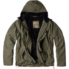 Surplus Windbreaker Jacket Zipper Hood Mens Hiking Outdoor Water Repellent Olive