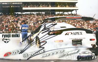 2008 Ryuji Miki signed A'pex Mazda RX-7 Formula Drift postcard