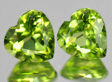 5 pezzi di 3mm heart-facet strong-green NATURALE AFGANO Peridot GEMME £ 1 NR!