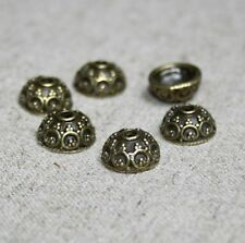 Antique bronze bead caps – 40 pcs