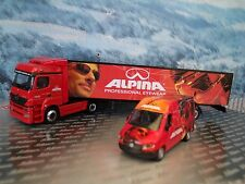 1:87  Schuco (Germany) Mercedes Benz Axor truck & Mercedes Benz Sprinter Aplina