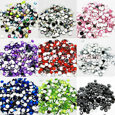 1000 Diamante Gems Flat Back Crystals Acrylic Rhinestone Sparkly Decoration Bead
