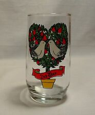 12 Days of Christmas Drinking Glass 2nd Day Replacement Vintage Anchor Hocking