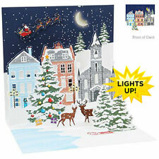 3D Light Up Christmas Card from Up With Paper - VILLAGE GLOW - UP-WP-X-LIT-1354