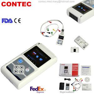 CONTEC Dynamic 12-Channel 24h ECG/EKG Holter System Recorder +Software Analyzer