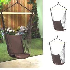 Lot of 2 Hammock Chair Garden Porch Tree Hanging Swing Set- New