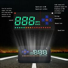 Universal Car GPS HUD Head Up Digital Speedometer MPH/KM/h Speed Warning System