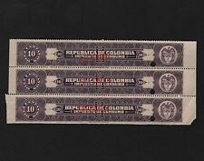OPC X3 1920's Colombia Columbia American Bank Note Co. 10c Revenue Specimen NG