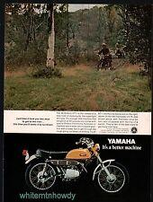 1970 YAMAHA 90 Enduro HT-1 Motorcycle Vintage AD