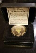 Bulls 1996 NBA Champs  Jordan Commemorative 1 Troy OZ .999 Silver   #840  (xi)