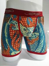 Ed Hardy Underwear Men's Rock Horse Boxer Briefs Size Small- 10% off