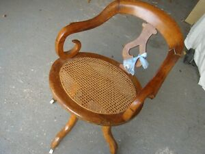 genuine antique victorian desk office swivel rotating chair arts and crafts