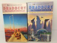 Ray Bradbury Lot 2 Science Fiction Pb Books Martian Chronicles Toynbee Convector