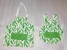 Peas Peapods Handmade Preschool Child Apron Size 2 4 Girls Boys Pockets Lined