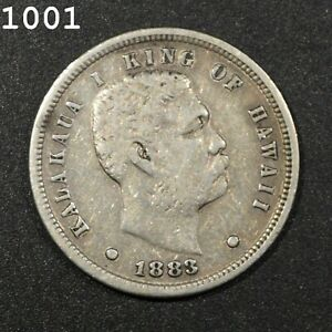 1883 Kingdom Of Hawaii *Silver* 10 Cent *Free S/H After 1st Item*