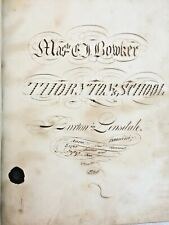 1855 Manuscript Handwritten Mathematics Math Cipher Book Calligraphy Penmanship