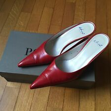 Sabot Colore Rosso di Who's  (POLLINI) - Pointy Red Mules by Who's -POLLINI  37