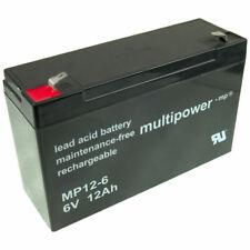Multipower Akku USV Blei Gel Bleigel Bleiakku 6V 6 Volt 12Ah