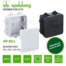 White & Black IP55 IP65 Waterproof Joint Outdoor CCTV Electrical Junction Box