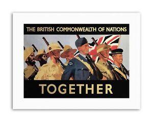 WAR BRITISH EMPIRE WW2 SOLDIER UK Picture Military Canvas art Prints