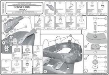 Attacco POSTERIORE bauletto KAPPA MONOLOCK HONDA XL 700 V Transalp 2008>2013