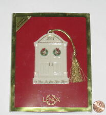 2001 Annual Lenox 1St Year In Our New Home Ceramic Christmas Ornament - Lnib
