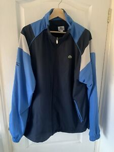 Lacoste Mens Vintage Tracksuit Navy Blue Size 6/192 XL Track Top Jacket 90's