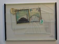 Jeffrey Blondes Beveled Glass Photo Collage / Drought in US1983