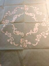 Vintage MADEIRA Pink Organdy Appliqué Embroidered Tablecloth Napkins Set NWT