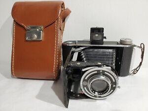 Vintage Franka Rolfix Folding Camera  German-made w Prontor-S Leaf Shutter