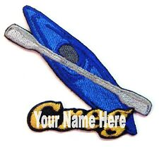 Kayak Custom Iron-on Patch With Name Personalized Free