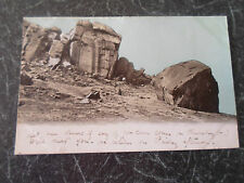 Vintage Postcard Ilkley Cow and Calf Rocks Colour Tinted Early 1900's
